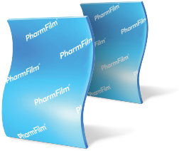Two strips of PharmFilm® aligned vertically