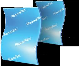 Two strips of PharmFilm® aligned vertically
